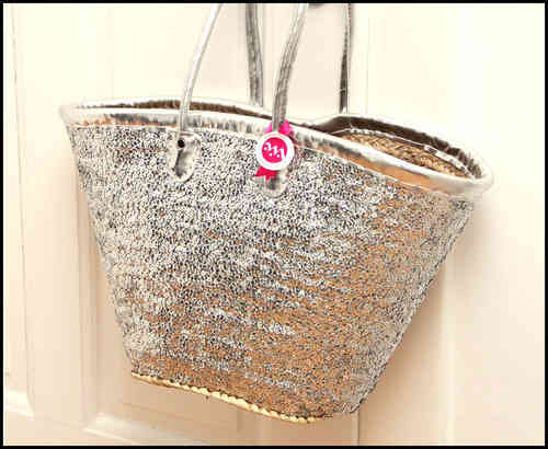 Basket bag silver