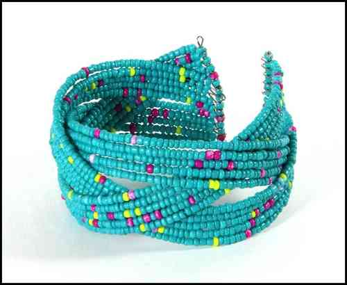 Bracelet with beads turquoise