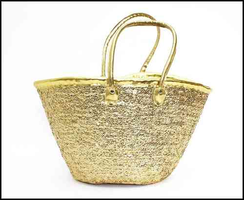 Basket bag gold