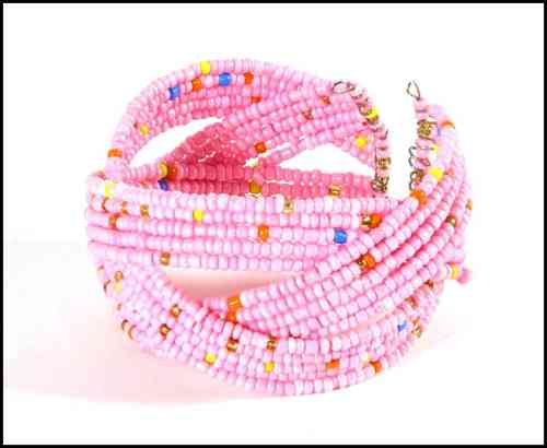 Bracelet with beads rose